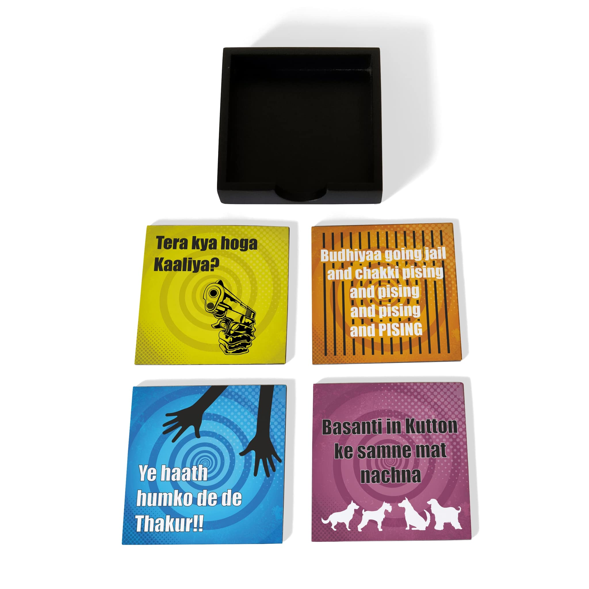 Bollywood Sholay Coaster Set with Box