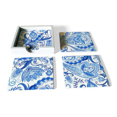Blue Orient Coaster Set with Box