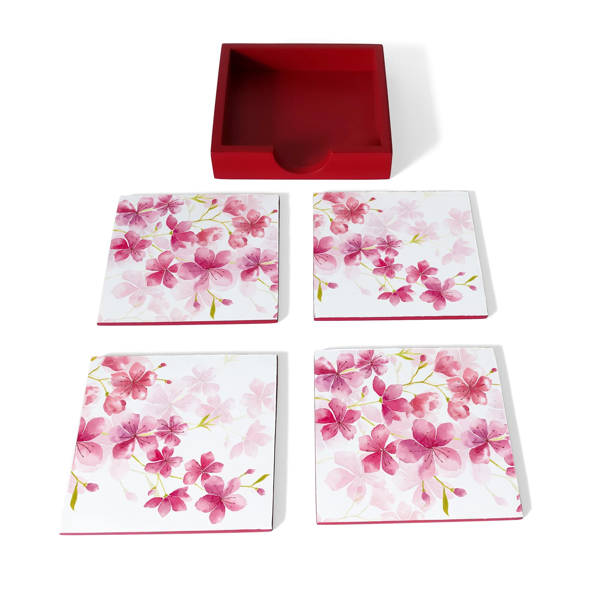 Cherry Blossom Coaster Set with Box