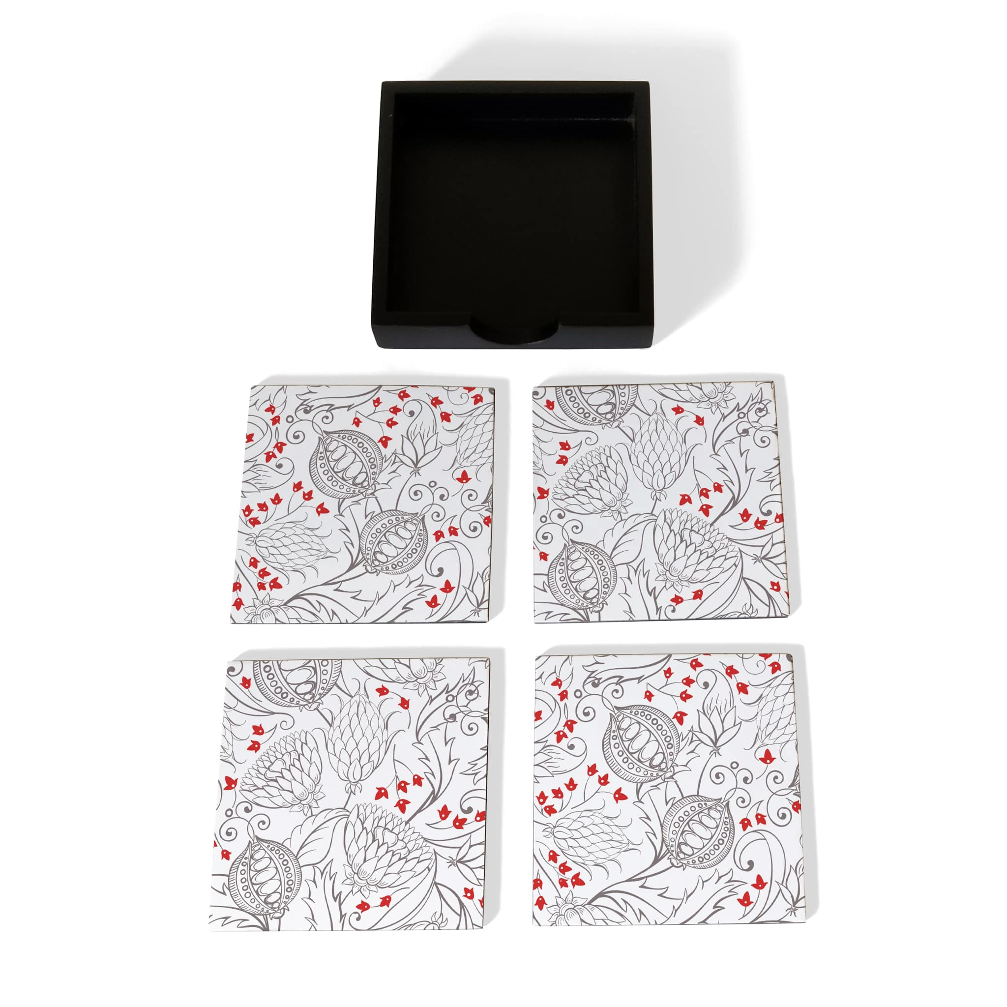 Pomegranate Coaster Set with Box