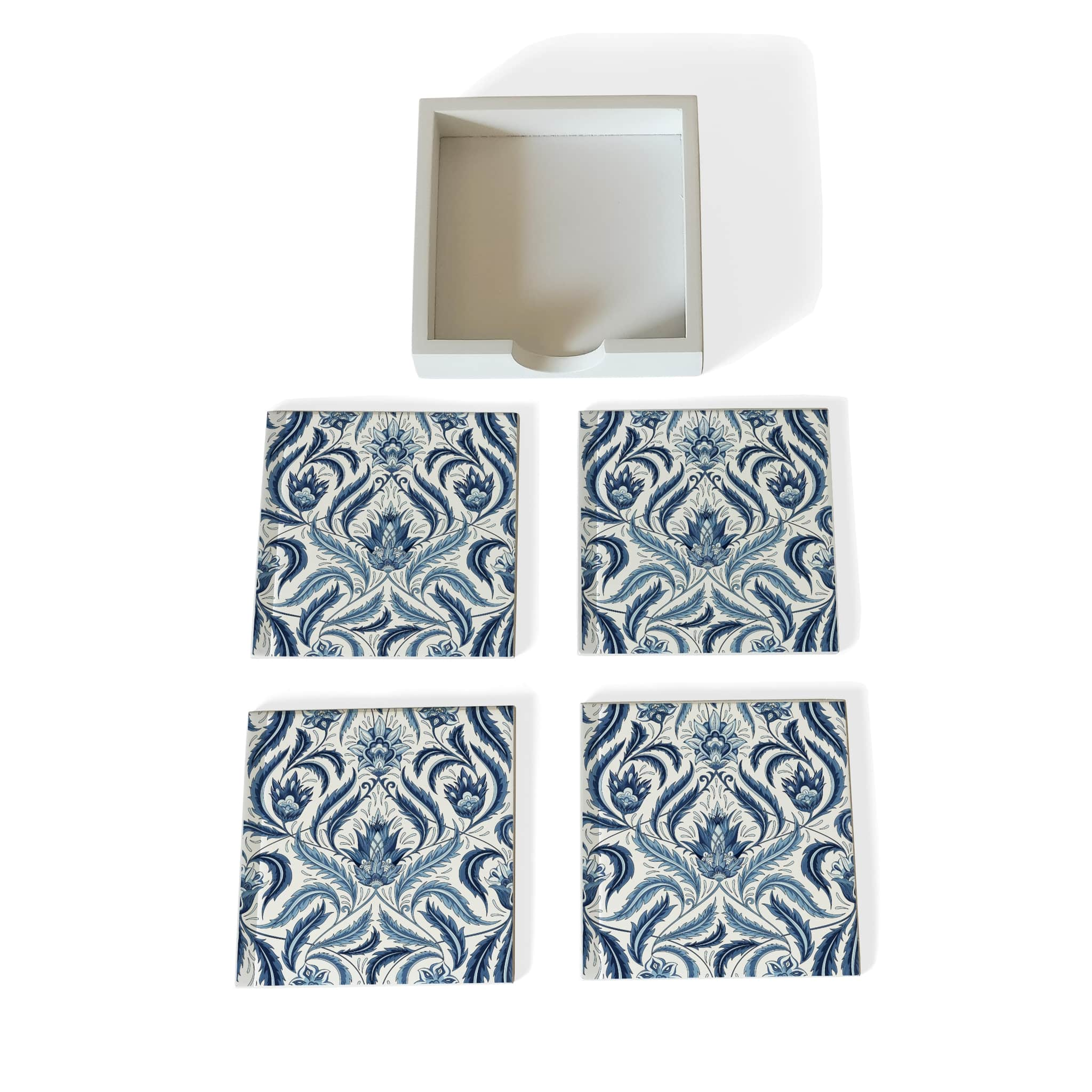 Liena Blue Coaster Set with Box