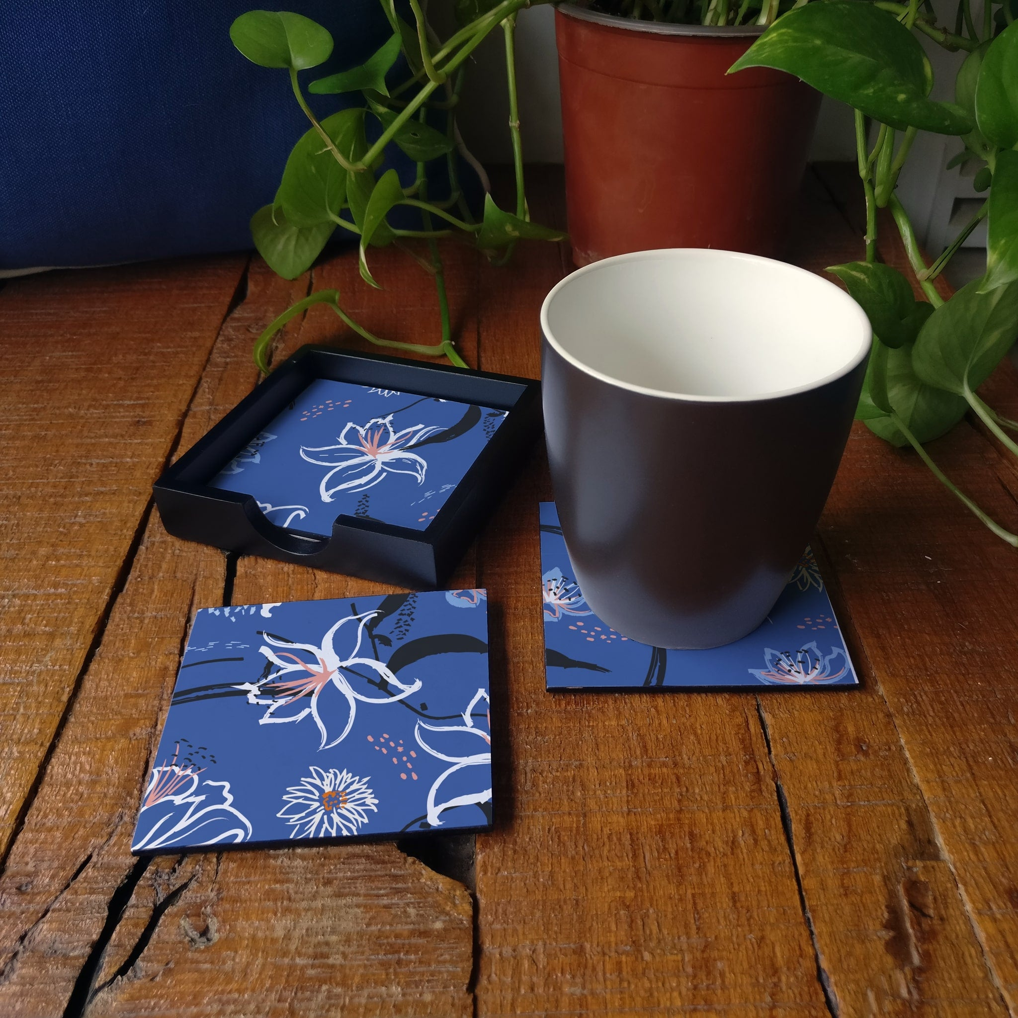 Lily Bloom-B Coaster Set with Box