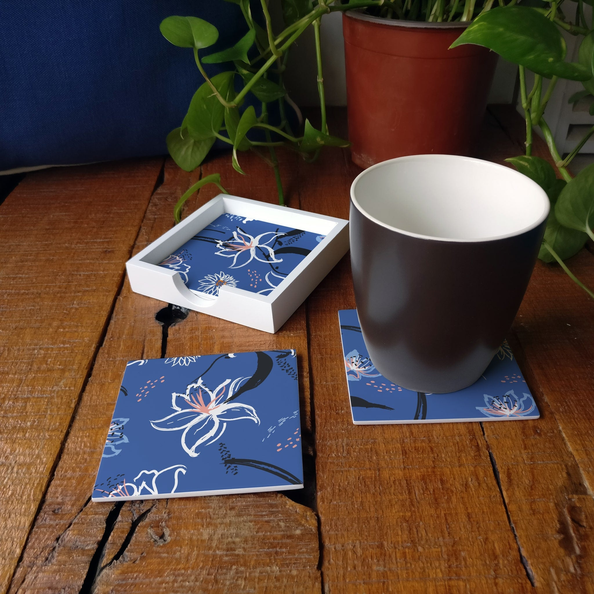 Lily Bloom-W Coaster Set with Box