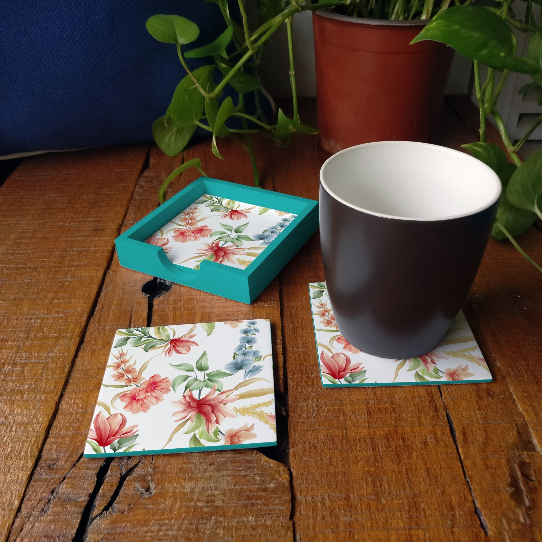 Magnolia Coaster Set with Box