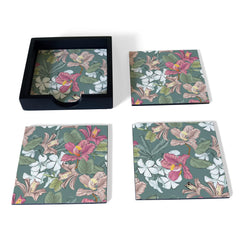 Vintage Jasmine-B Coaster Set with Box