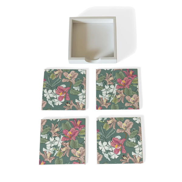 Vintage Jasmine-W Coaster Set with Box