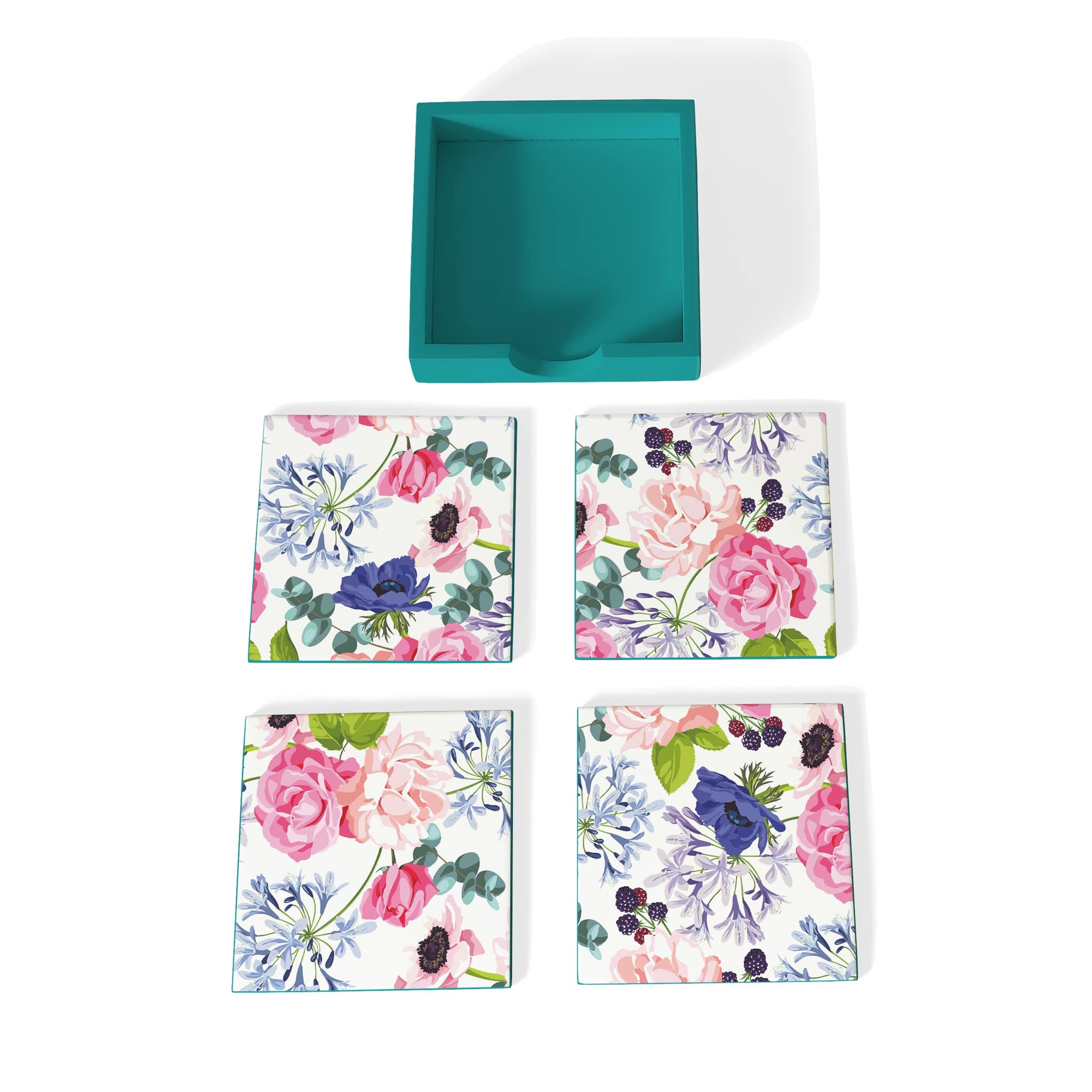Roses Etc-T Coaster Set with Box