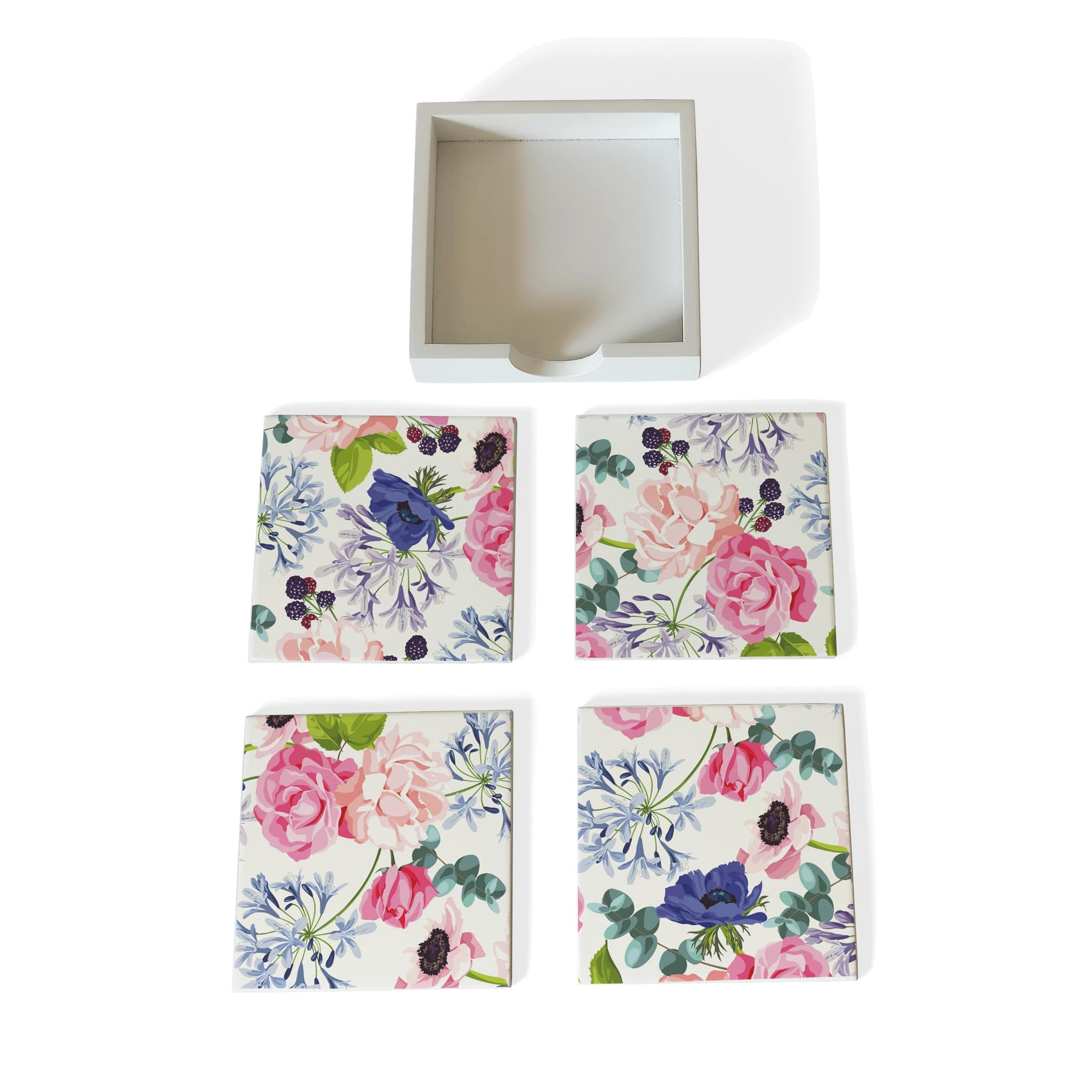 Roses Etc-W Coaster Set with Box