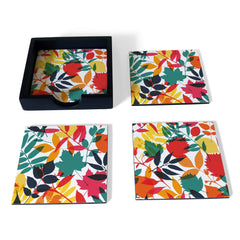 Autumn Leaves Coaster Set with Box