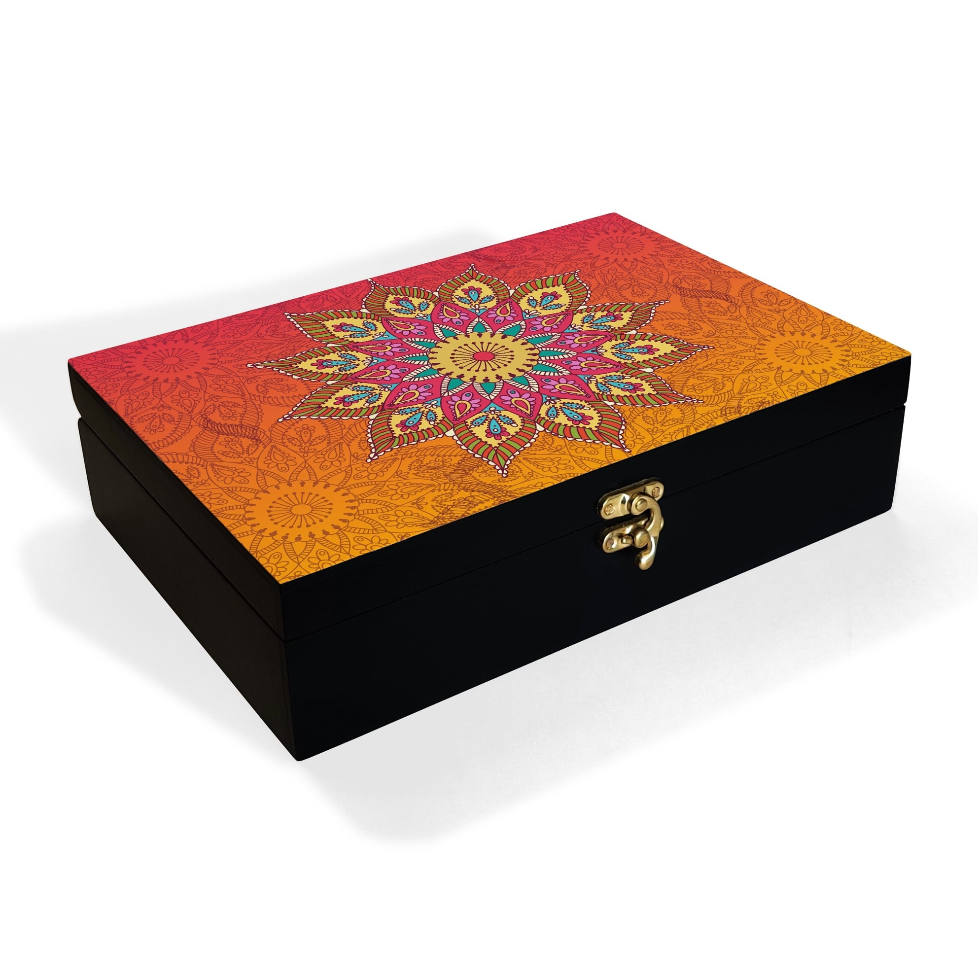 Orange Mandala Box Grand