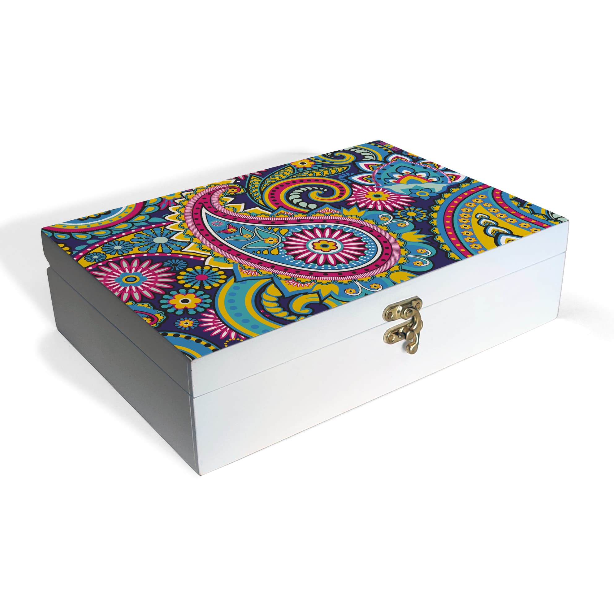 Blue Paisley Box Grand