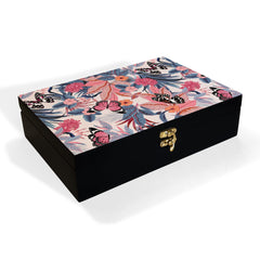 Grey Pink Butterflies Box Grand