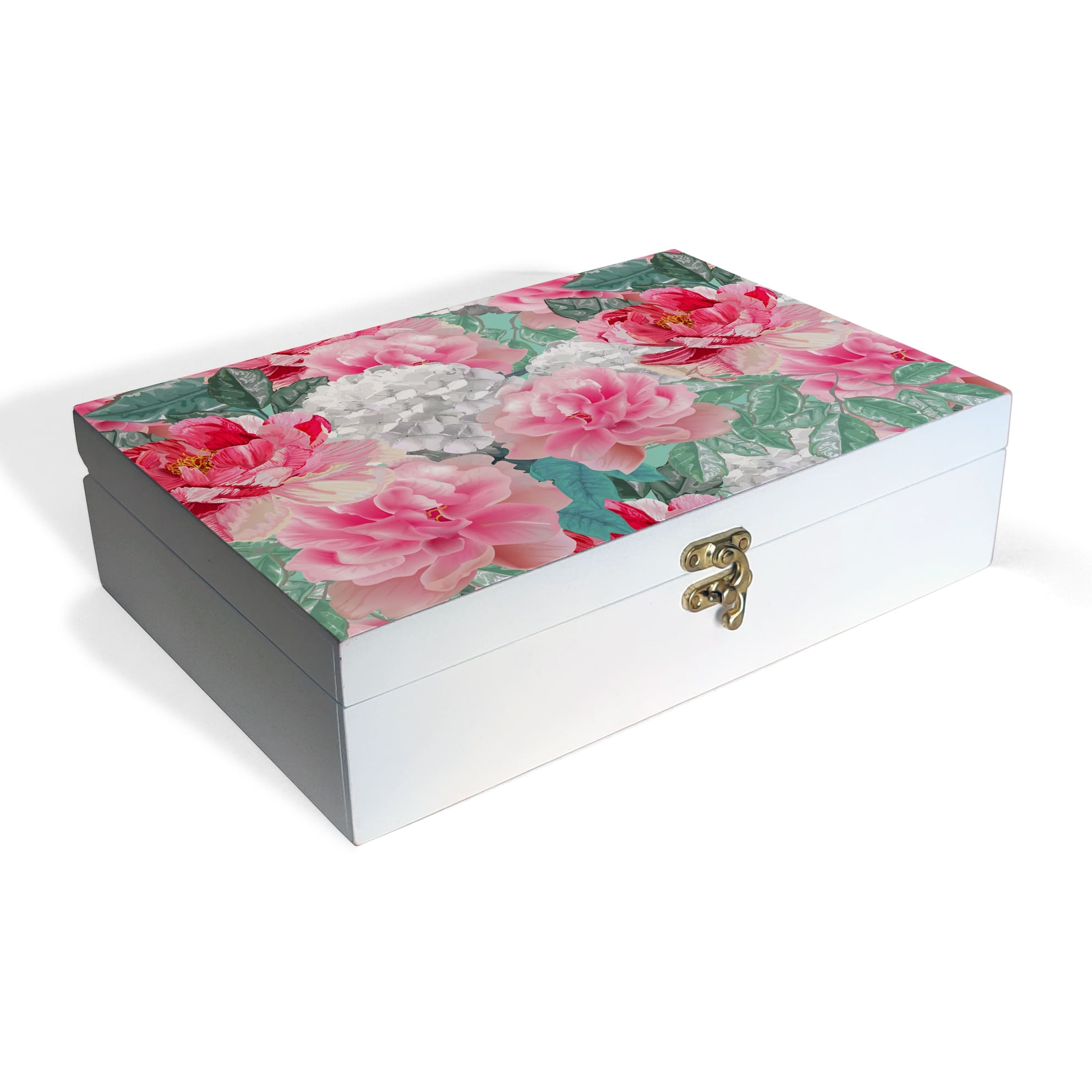 Red Chrysanthemums-W Box Grand