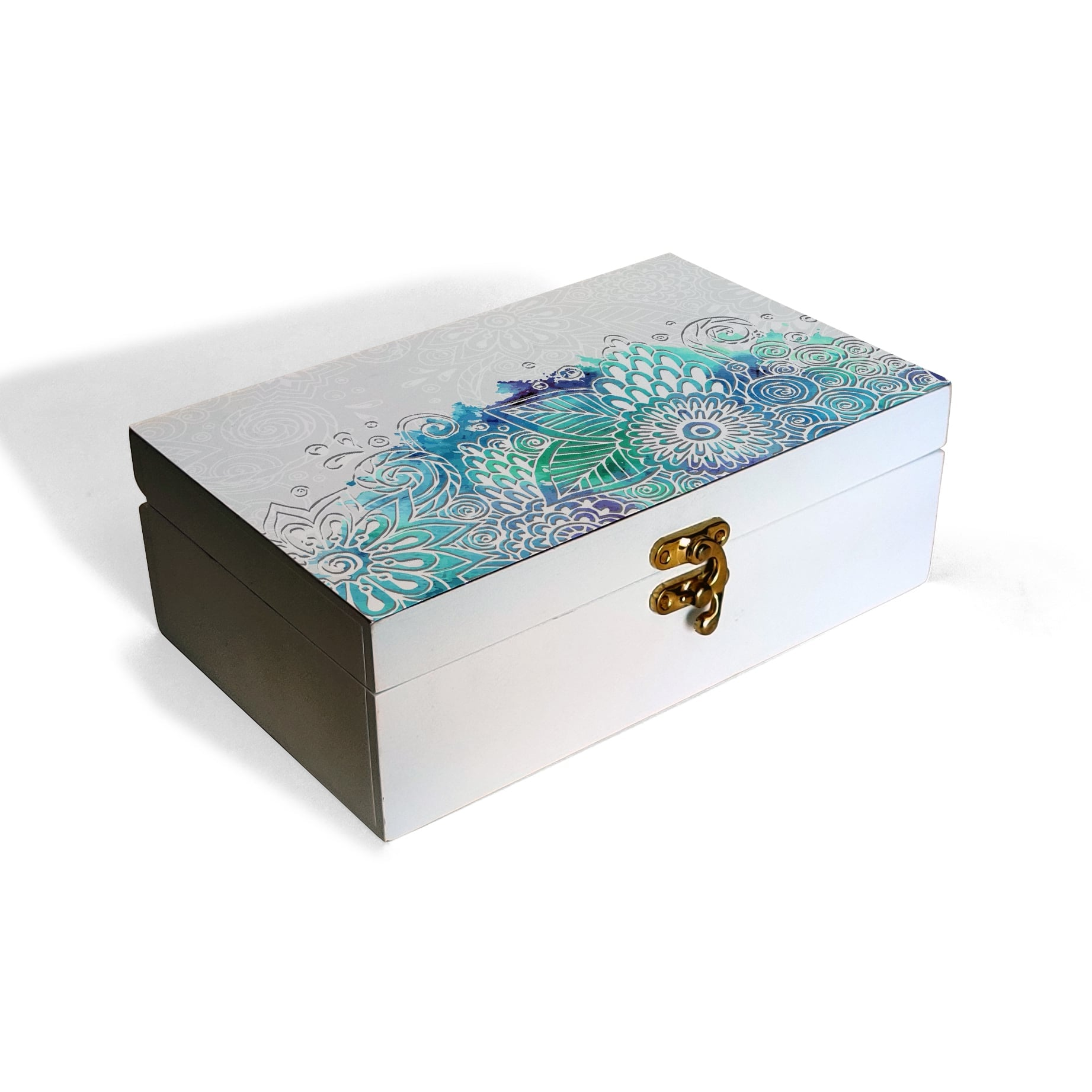 Abstract Flowers Box Moyen