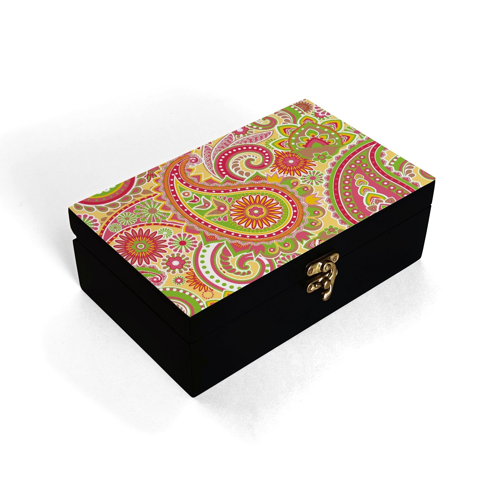 Yellow Paisley Box Moyen