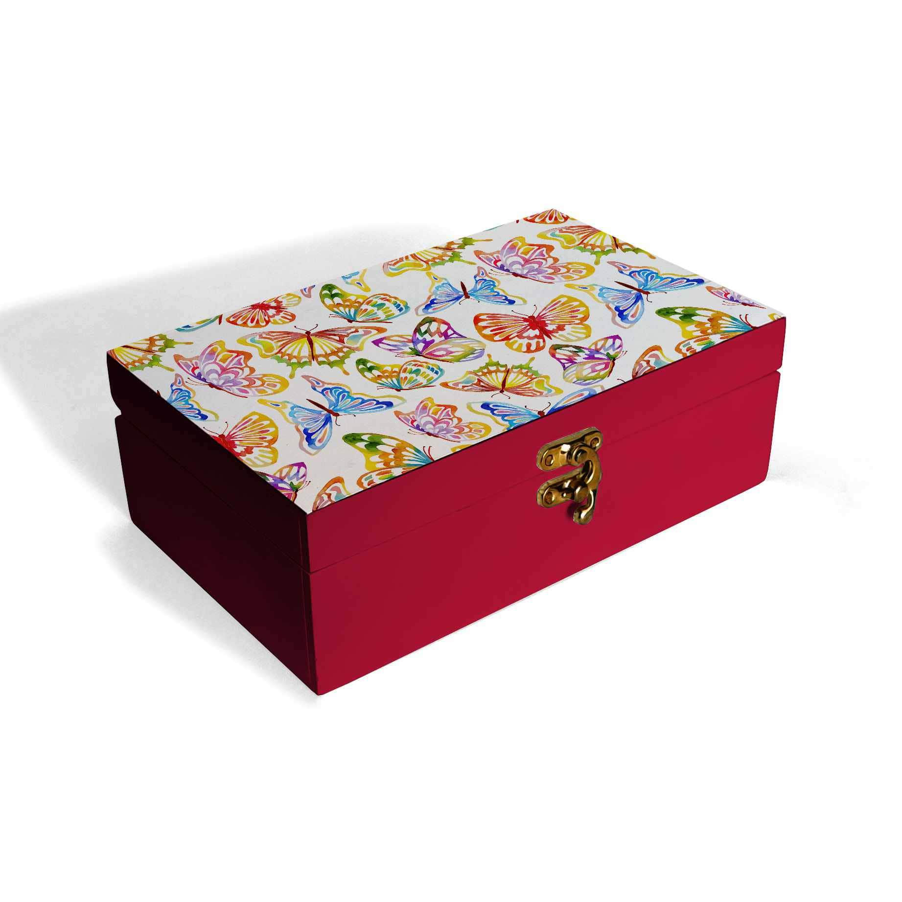 Watercolour Butterflies Box Moyen