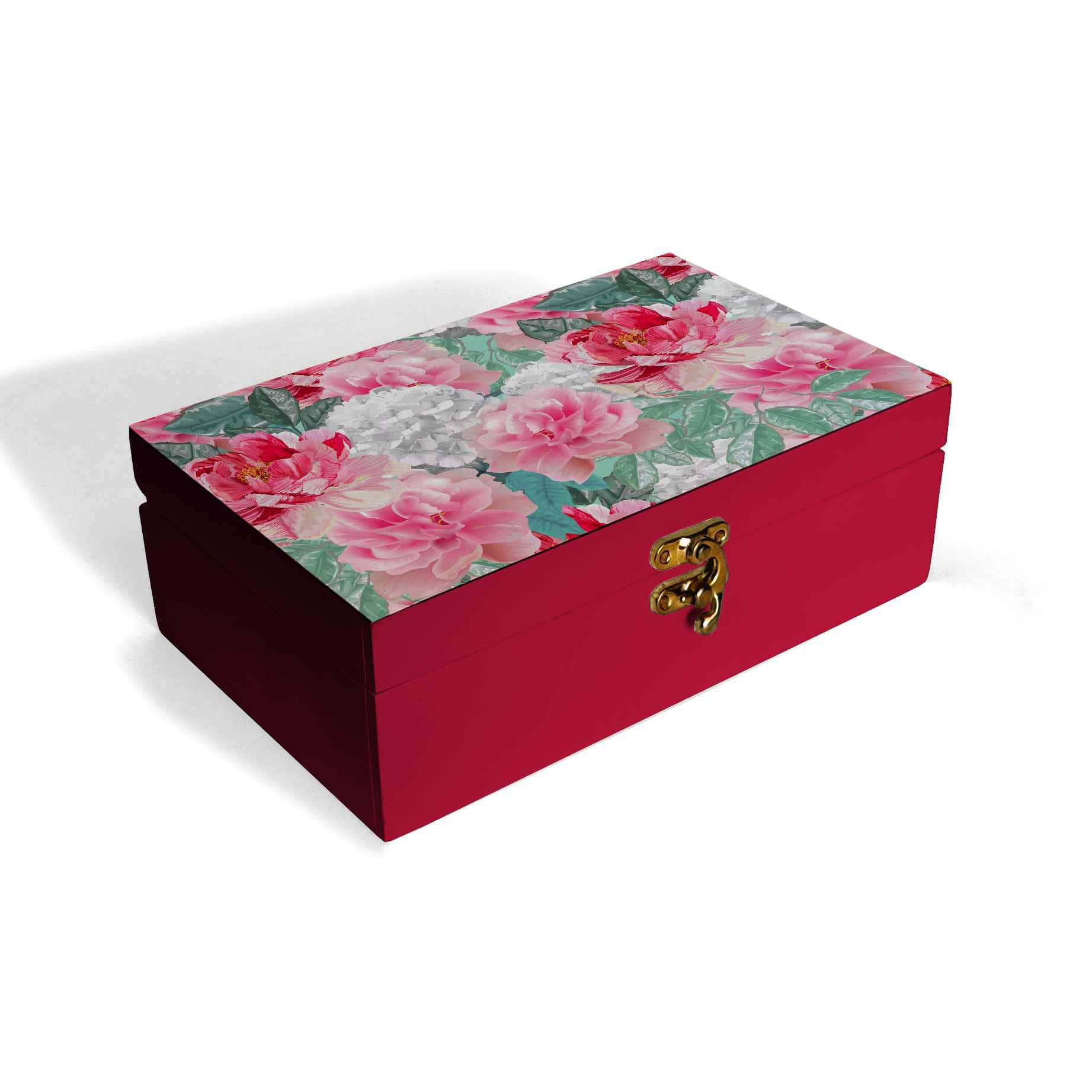 Red Chrysanthemums Box Moyen