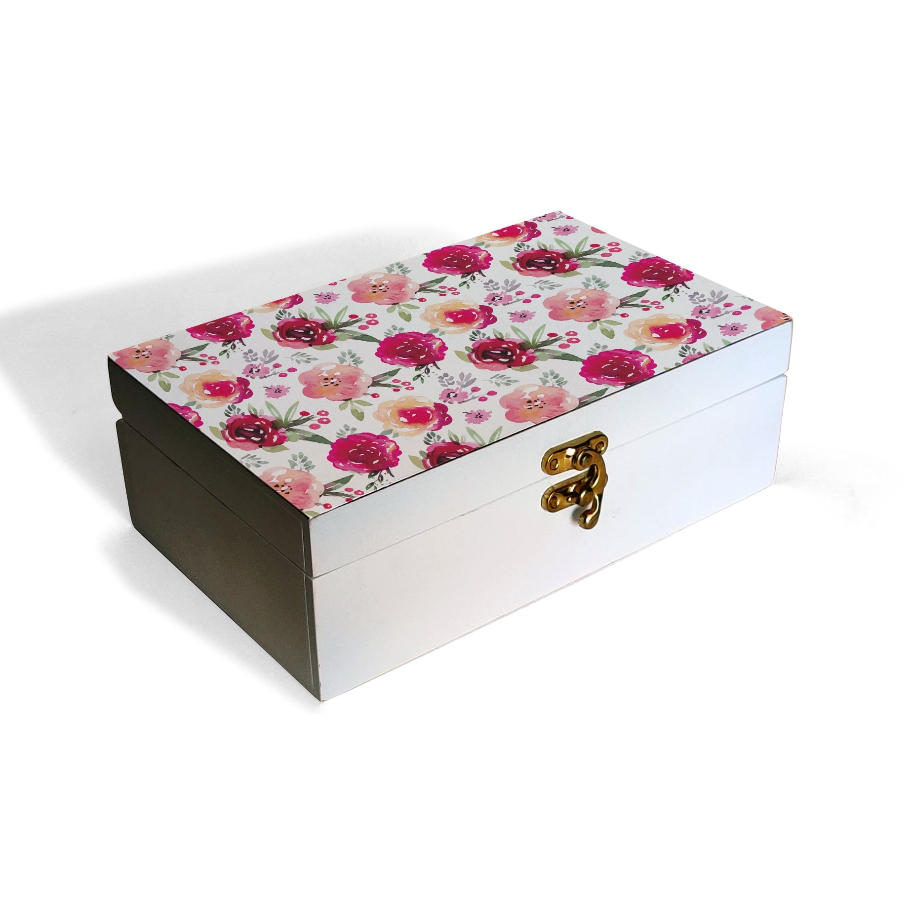 Pink Flowers Box Moyen