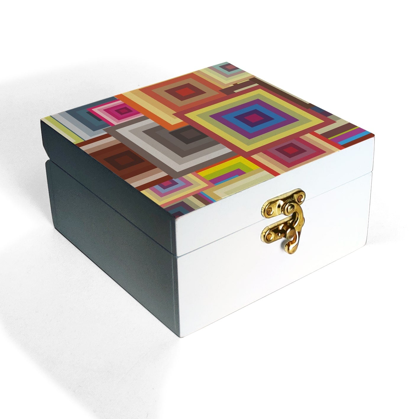 Colourful Squares Box Petite