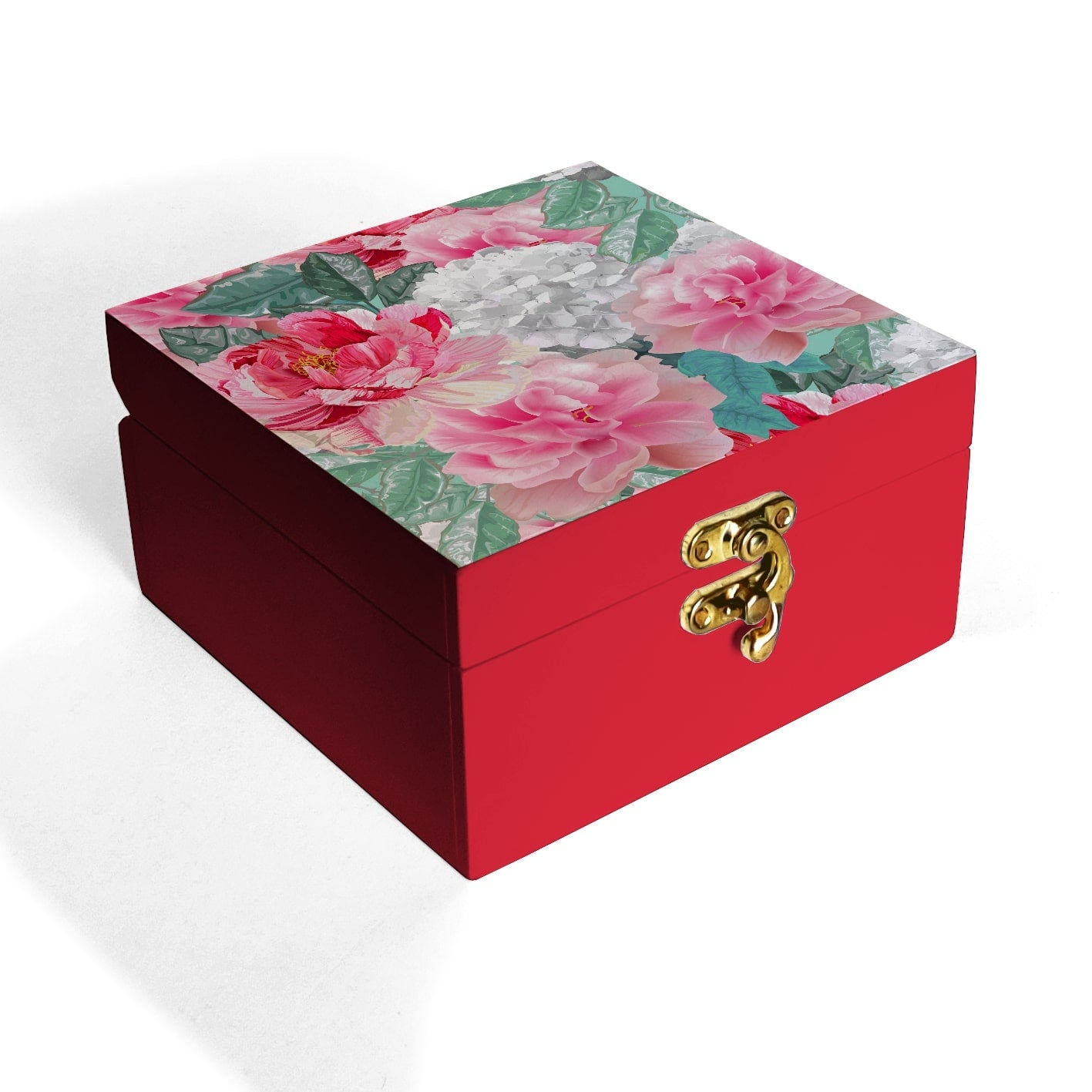 Red Chrysanthemums Box Petite