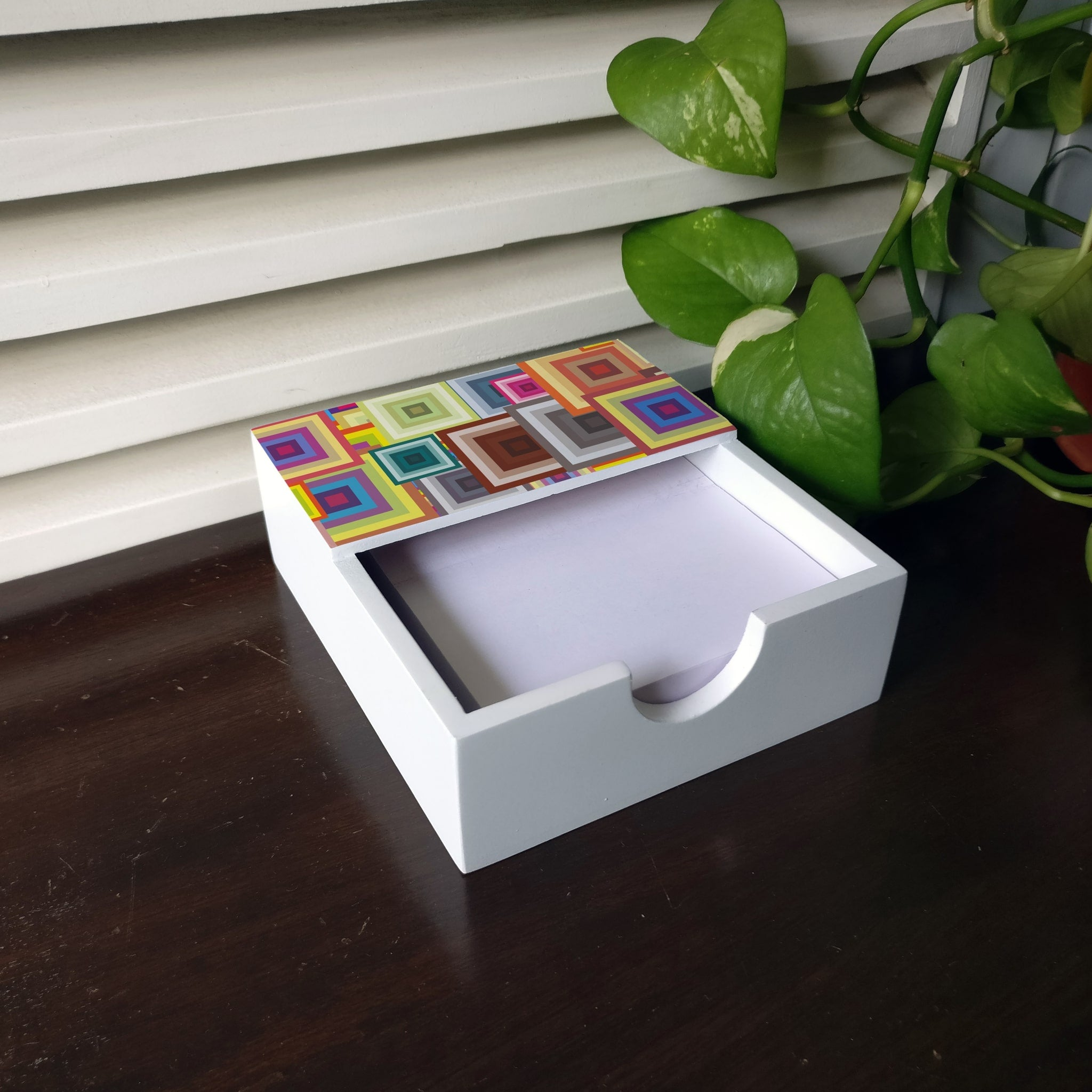 Colourful Squares Notepad Holder