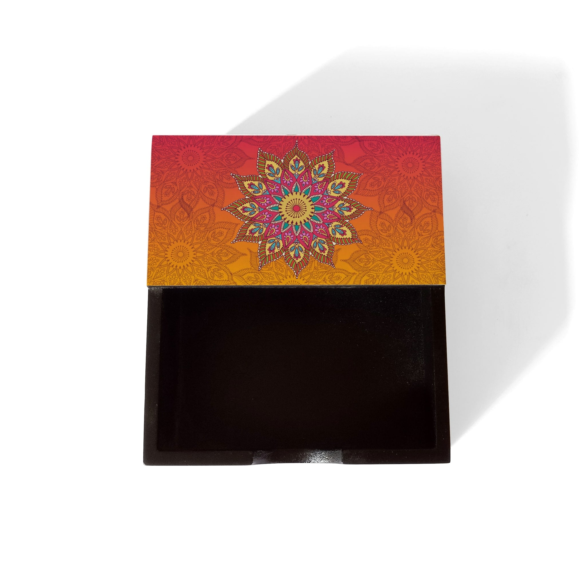 Orange Mandala Notepad Holder