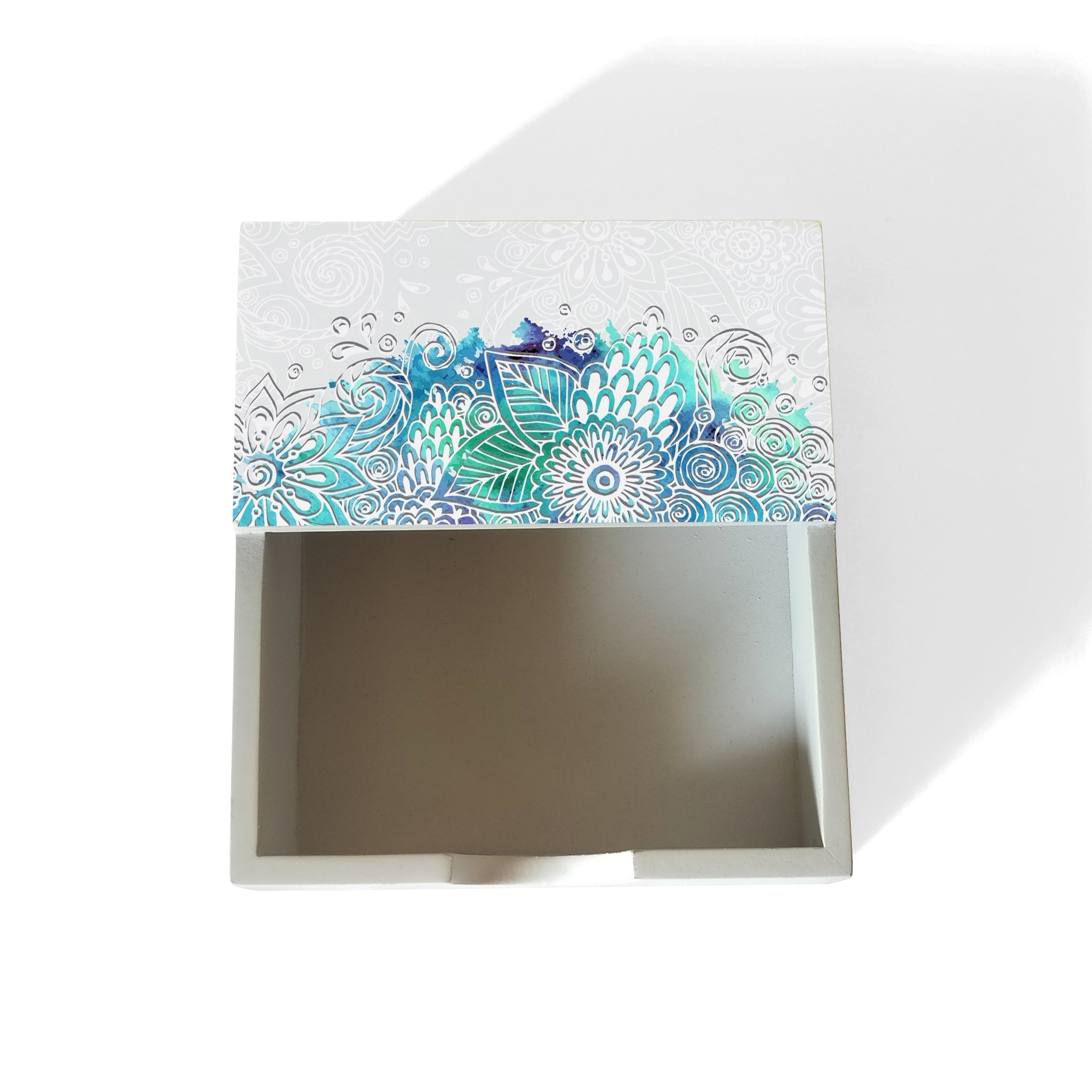 Abstract Flowers Notepad Holder