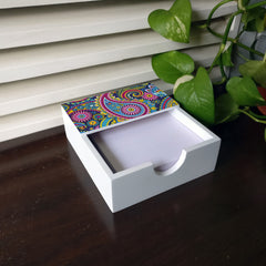 Blue Paisley Notepad Holder