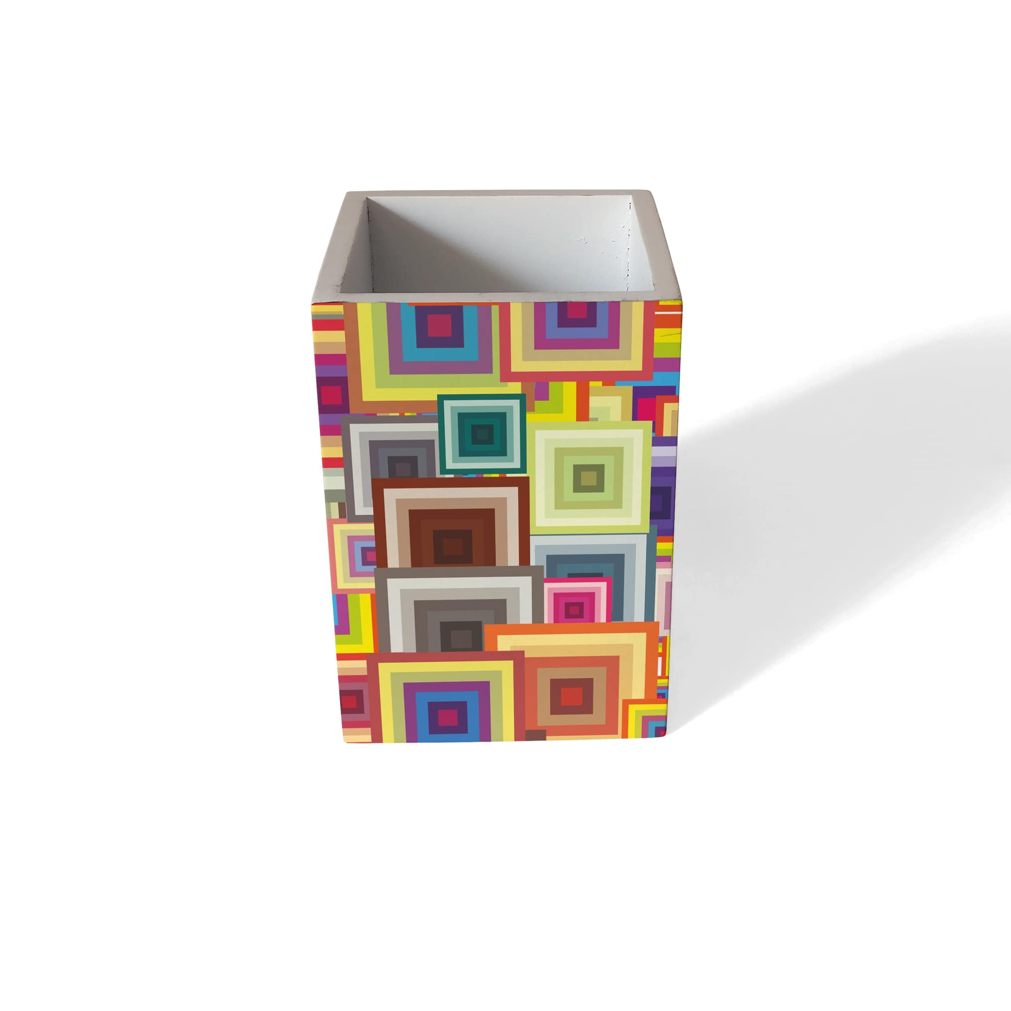 Colourful Squares Pen Stand