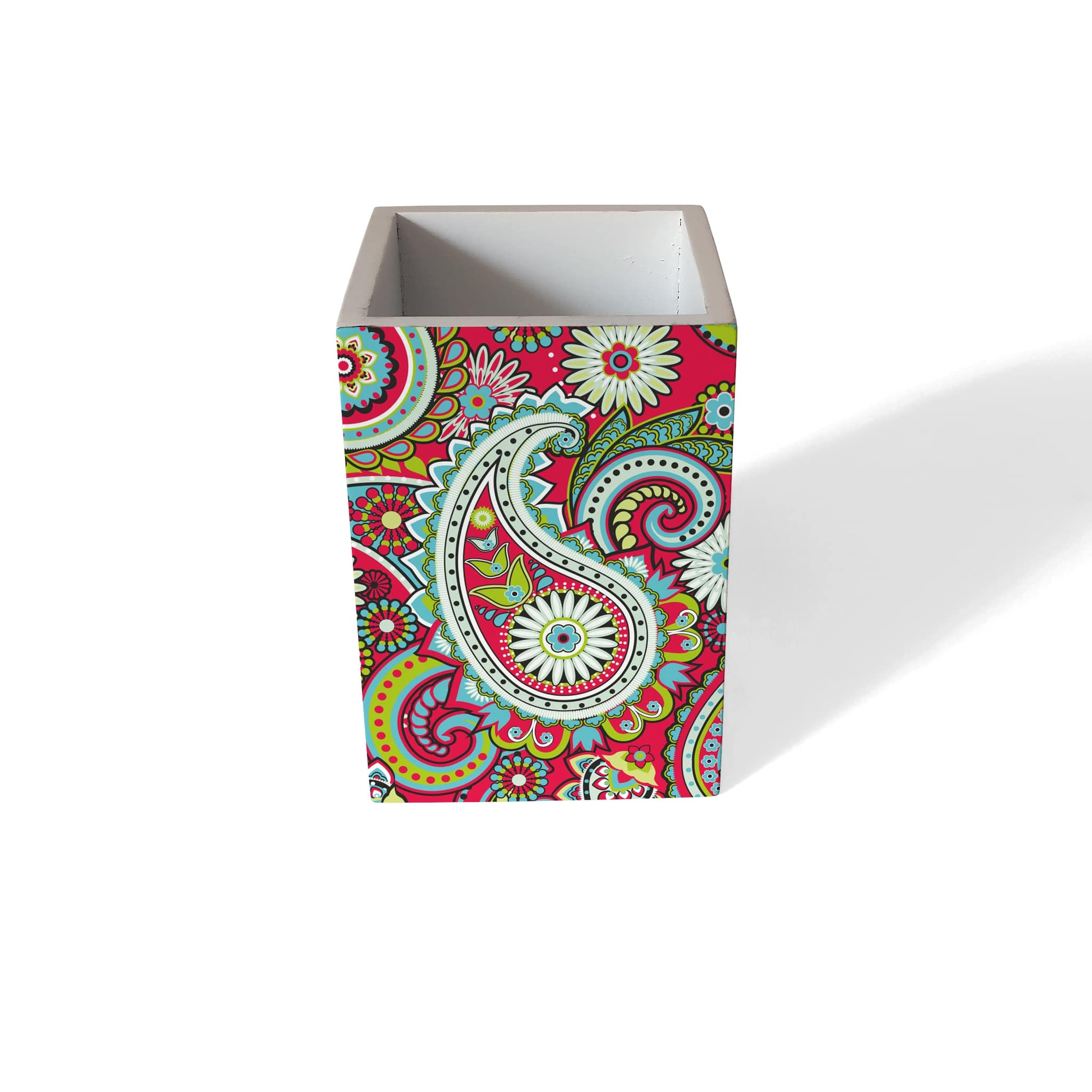Pink Paisley Pen Stand