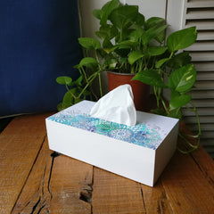 Abstract Flowers Tissue Box