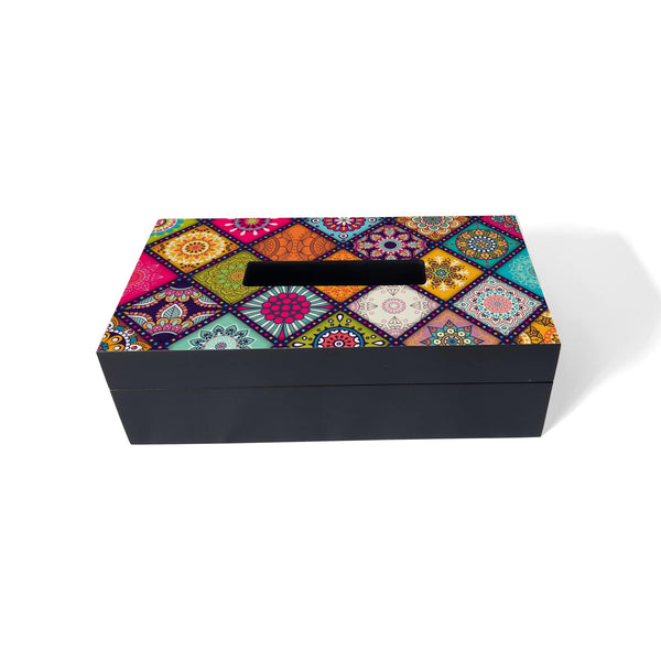 Multi Mandala Tissue Box