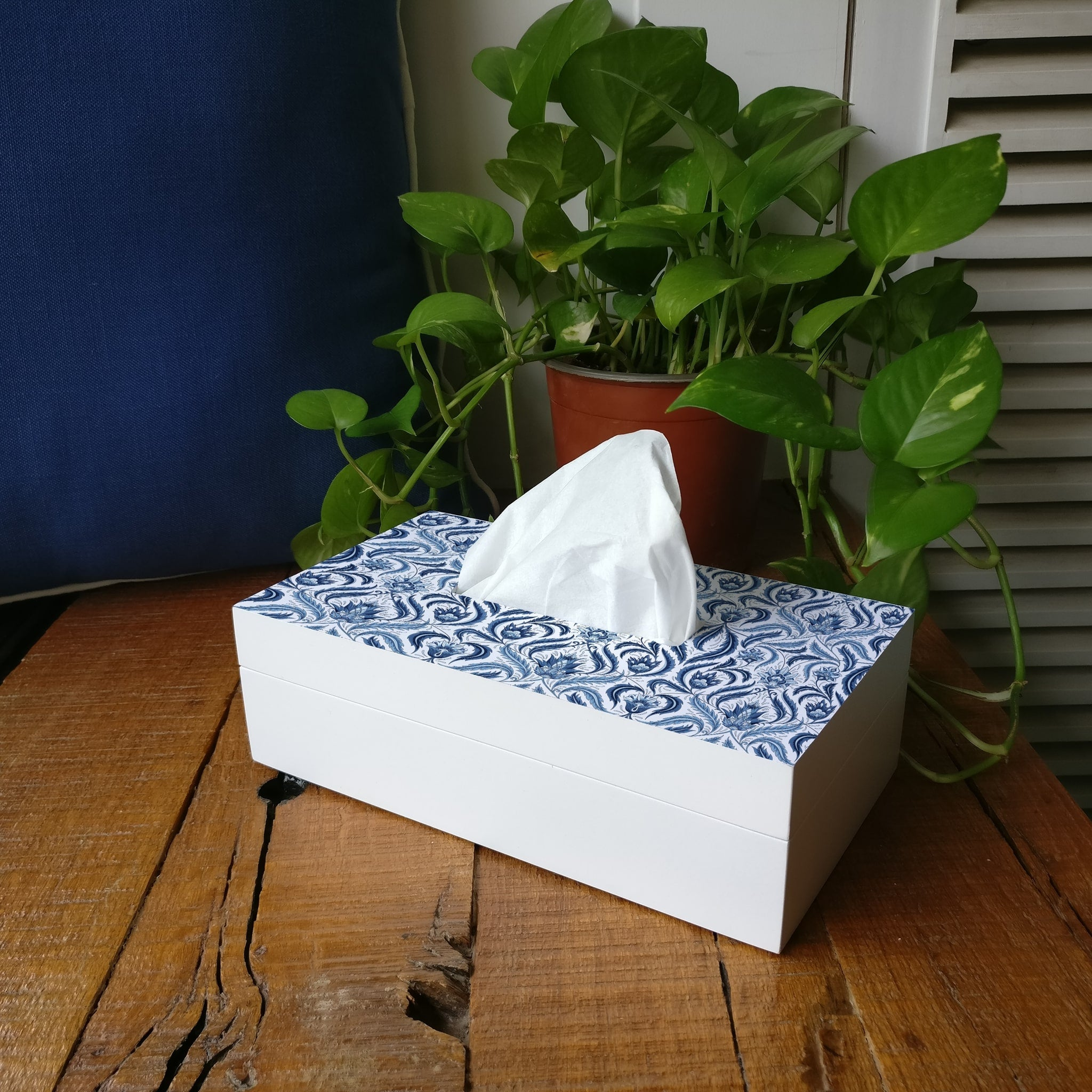 Liena Blue Tissue Box