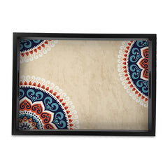 Mandala Vintage Tray with Cutout Handles