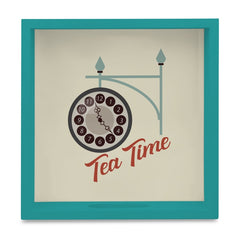 "Tea Time Serving Tray with Cutout Handles (Wood) 9""x 9"""
