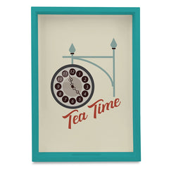 "Tea Time Serving Tray with Cutout Handles (Wood) 10""x14"""