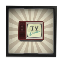 "TV Dinner Serving Tray with Cutout Handles (Wood) 9""x 9"""
