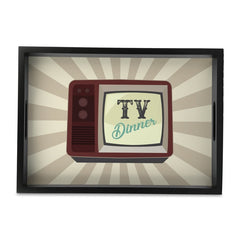 "TV Dinner Serving Tray with Cutout Handles (Wood) 10""x14"""