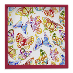 Watercolour Butterflies-R Tray with Cutout Handles