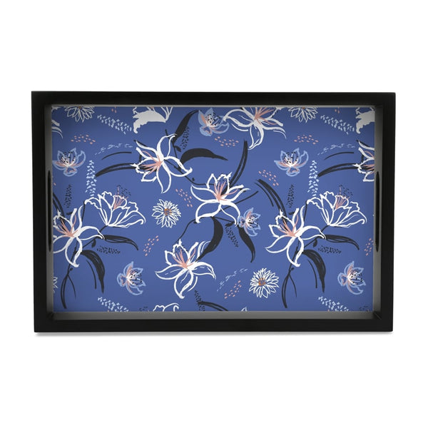 "Lily Bloom Serving Tray with Cutout Handles (Wood) 8""x12"""
