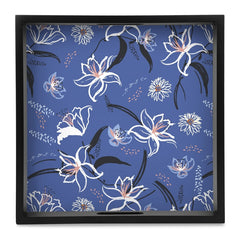 "Lily Bloom Serving Tray with Cutout Handles (Wood) 12""x12"""