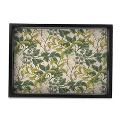 Vintage Floral Tray with Cutout Handles
