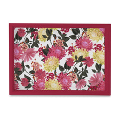 "Ava Floral-R Serving Tray with Cutout Handles (Wood) 10""x14"""