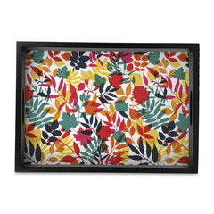 Autumn Leaves Tray with Cutout Handles