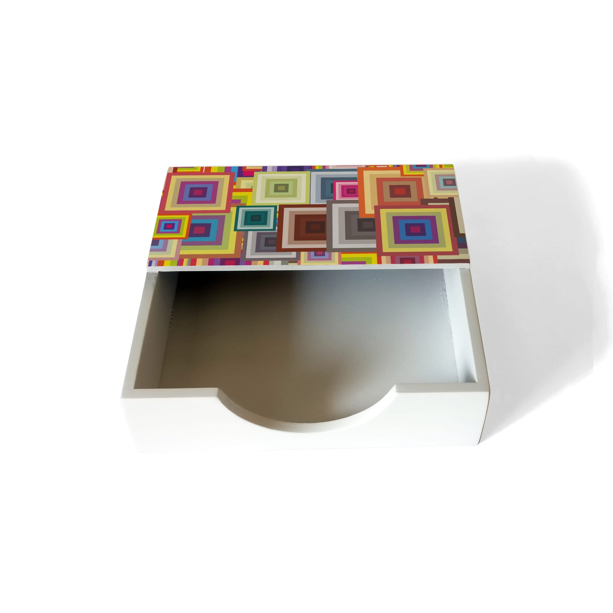 Colourful Squares Tissue Holder