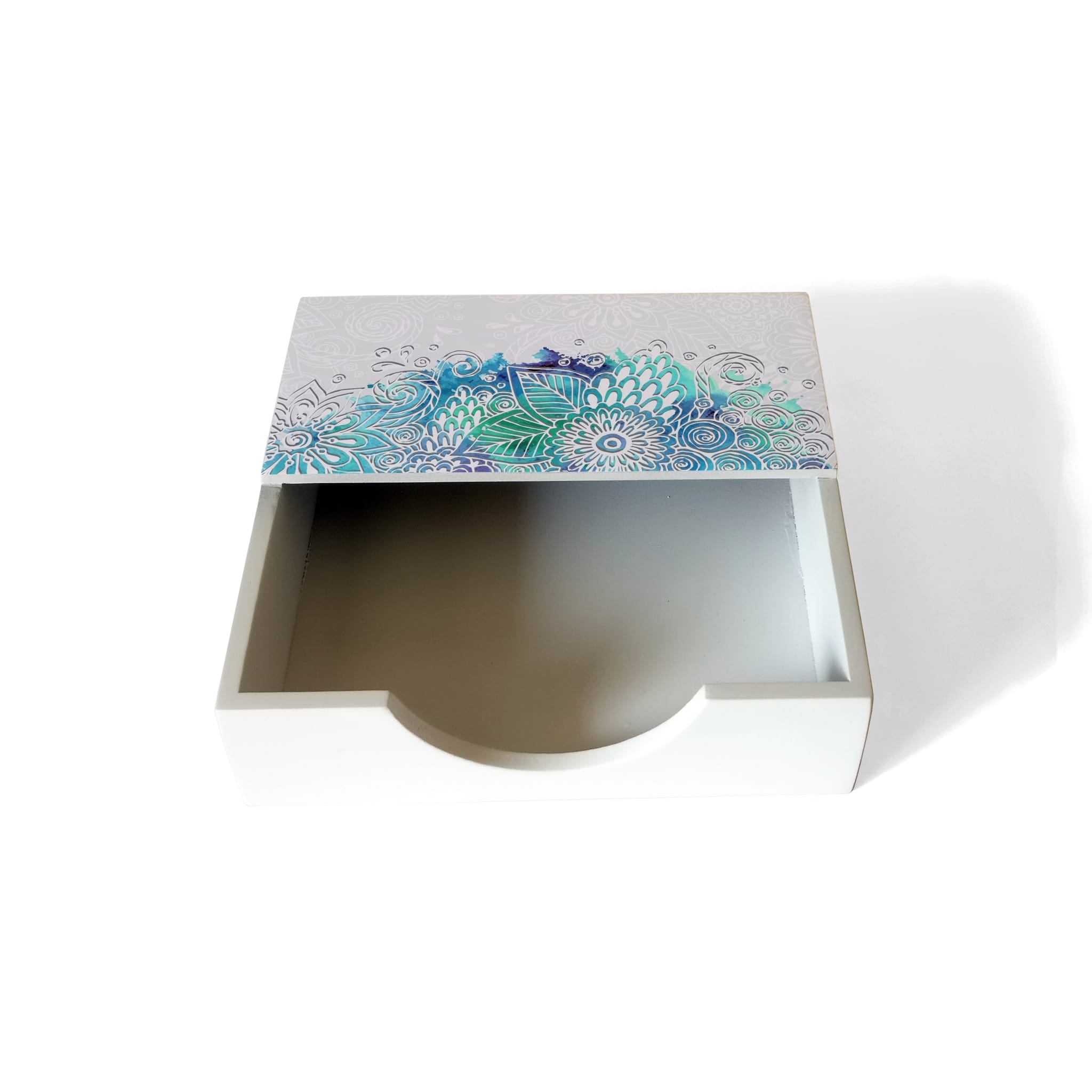 Abstract Flowers Tissue Holder