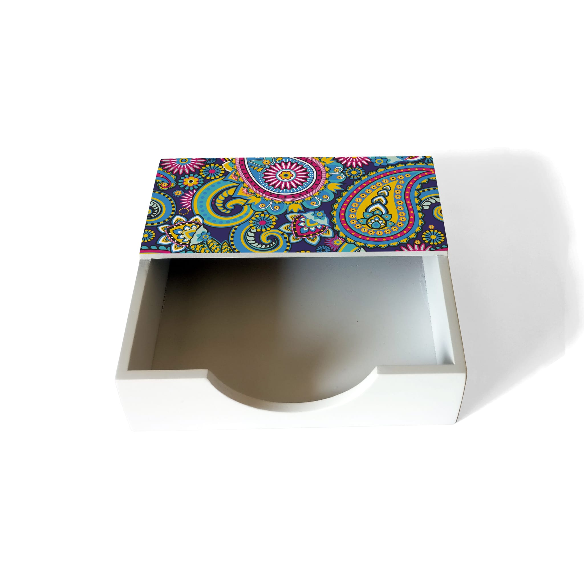 Blue Paisley Tissue Holder