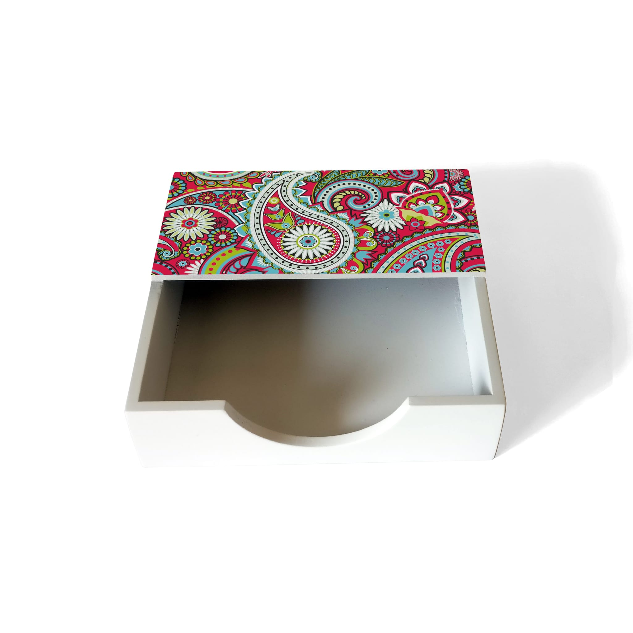 Pink Paisley Tissue Holder
