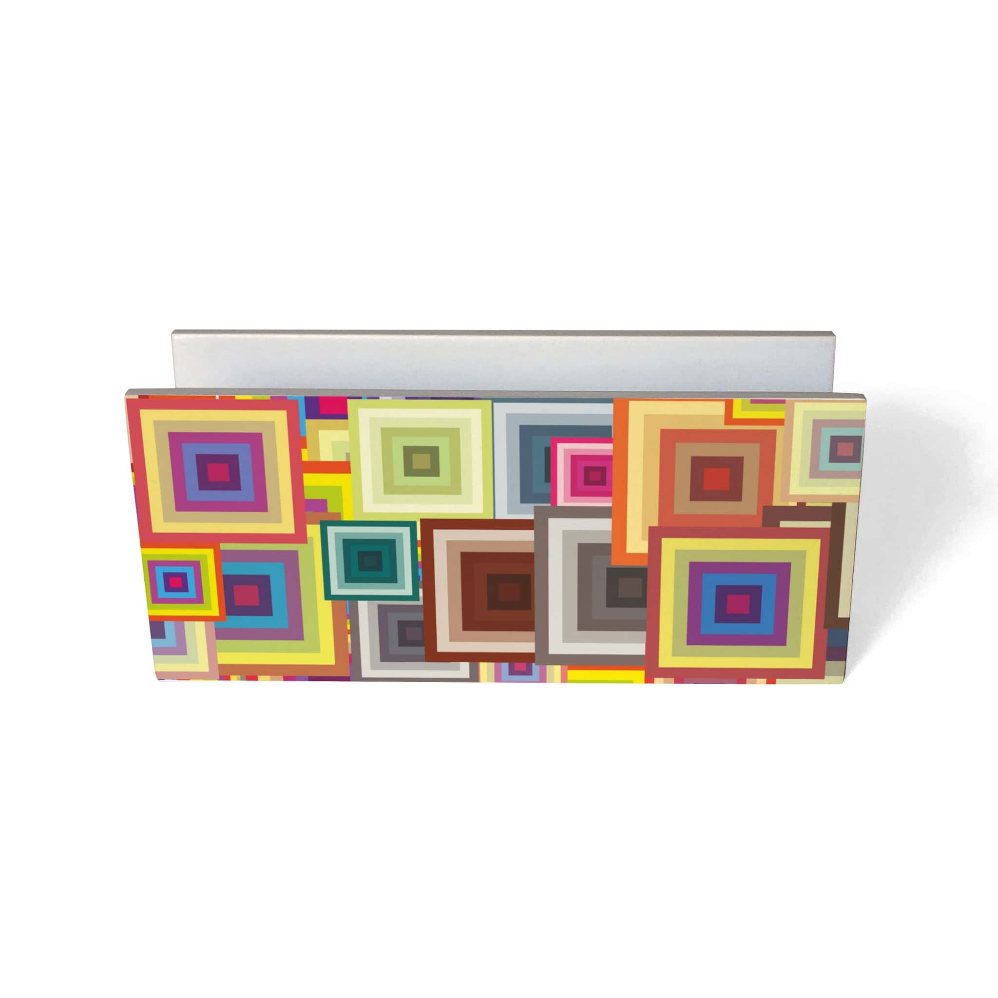 Colourful Squares Tissue Stand