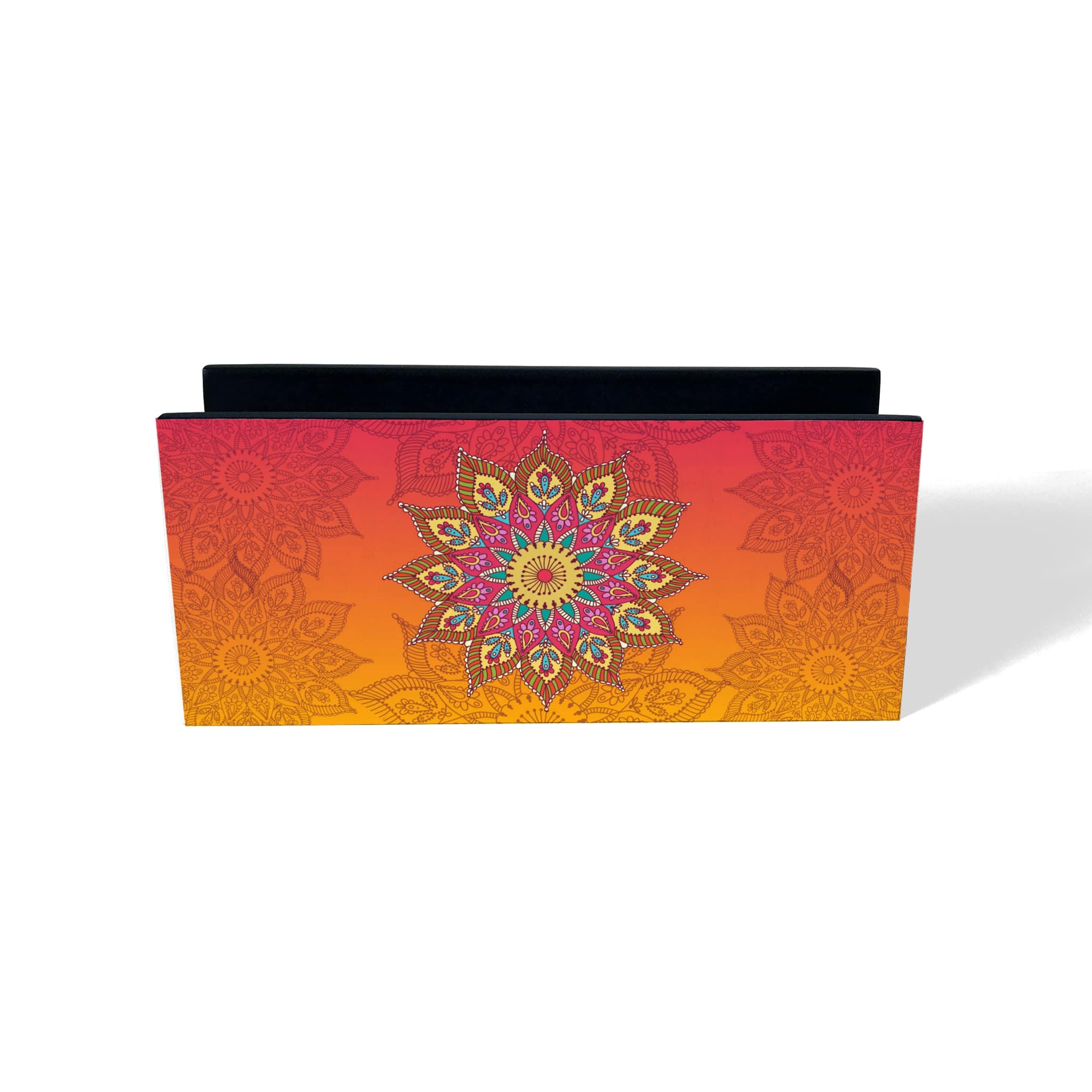 Orange Mandala Tissue Stand